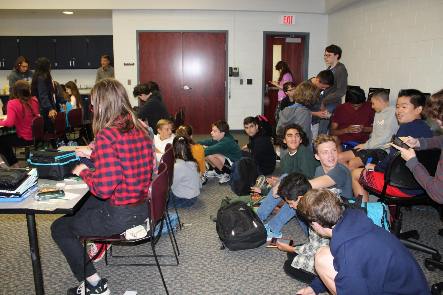 The Class of 2022 gathered in room 107 for freshman council elections on Oct. 5.