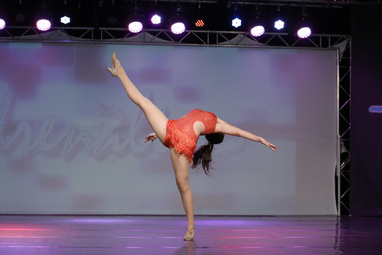 Senior Allie Beekman of Neptune dances to