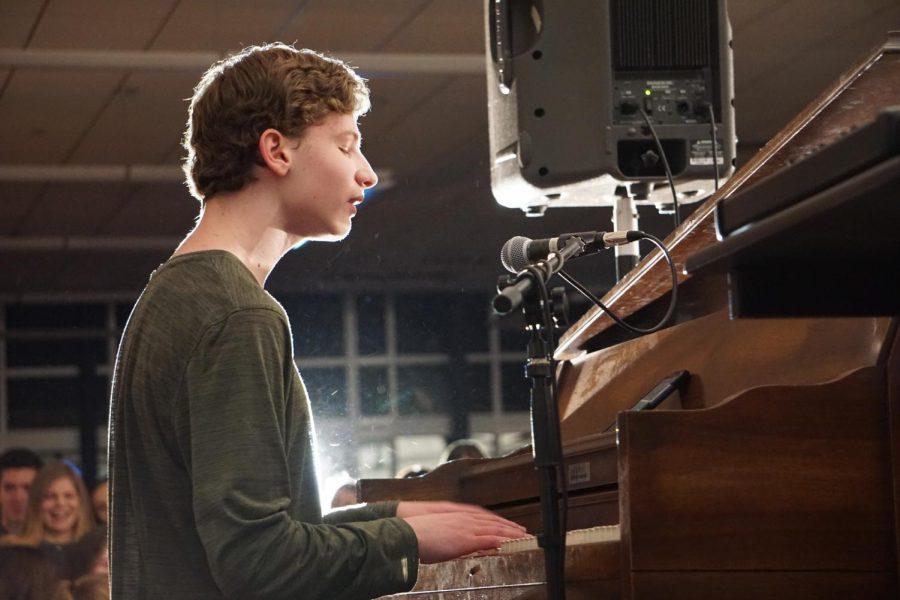 Sophomore+Michael+Rau+of+Marlboro+performs+%22Perfect%22+by+Ed+Sheeran.