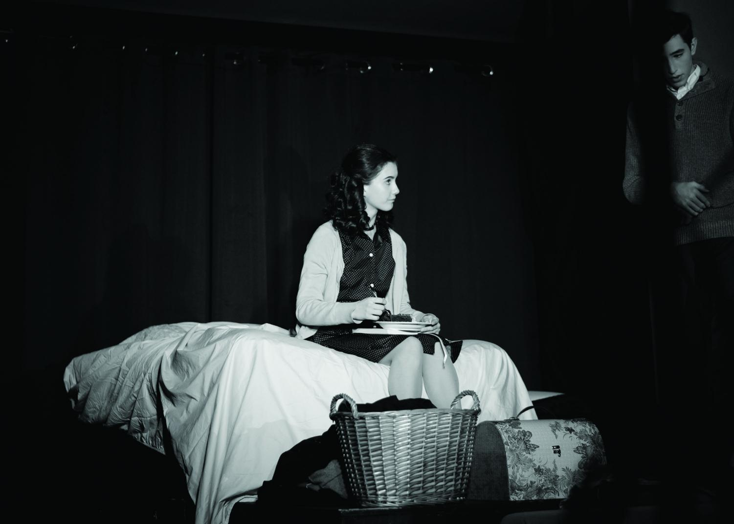 Sophomore Bella Carmona-Ramirez of Long Branch acts as Anne Frank, the play's lead, during a scene in the character's bedroom. This is the first CHS Drama production for Ramirez.