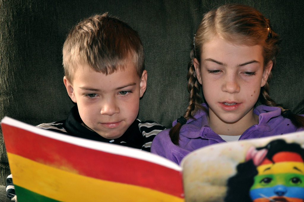 Society considers reading a feminine activity. Therefore, older boys are less likely to value reading than girls.