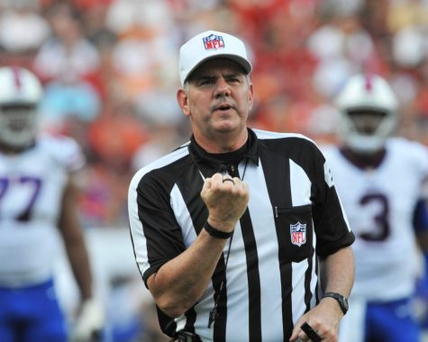 NFL referee Bill Vinovich was the subject of scrutiny after his call against the LA Rams in an NFC title game. https://creativecommons.org/licenses/by/2.0/