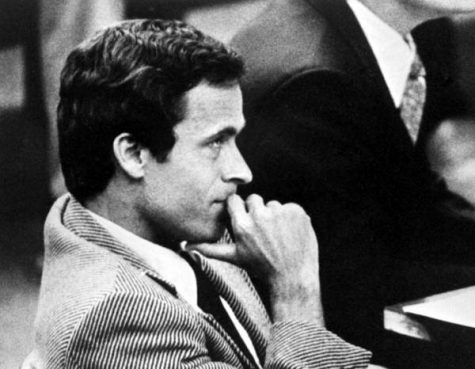 Serial killer Ted Bundy sits in court during his murder trial. Bundy is one of the many criminals covered in recent movies. https://creativecommons.org/licenses/by/2.0/