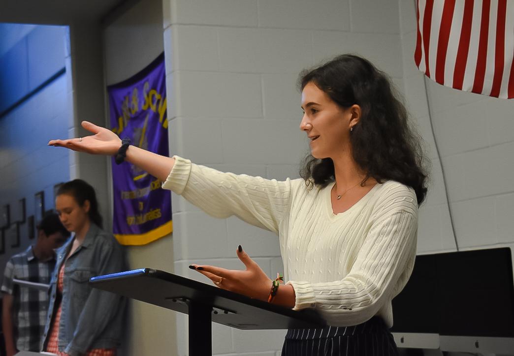 Rising junior Isabella Carmona-Ramirez was elected class president on Friday.