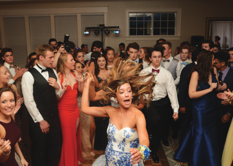 Students dance at CHS prom on May 11, 2018 at Trump National Golf Course.
