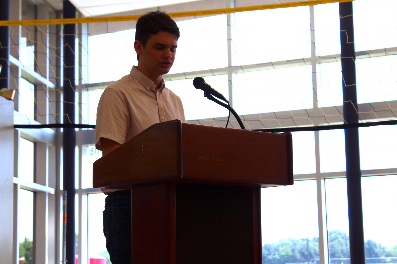 Rising senior Vaughn Battista of Tinton Falls was elected class president on Friday.