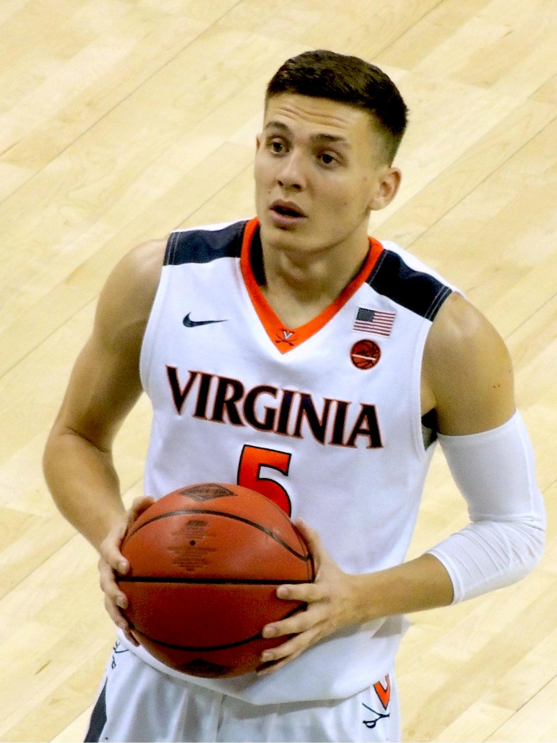 (pictured: Kyle Guy) The University of Virginia beat out Texas Tech to win the title. (https://creativecommons.org/licenses/by-sa/4.0)]