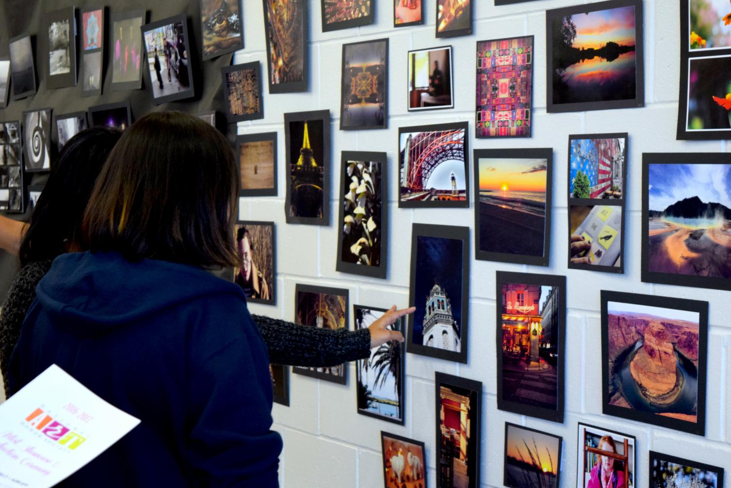 CHS students have many opportunities to express their artistic creativity, such as at the annual NAHS art show.