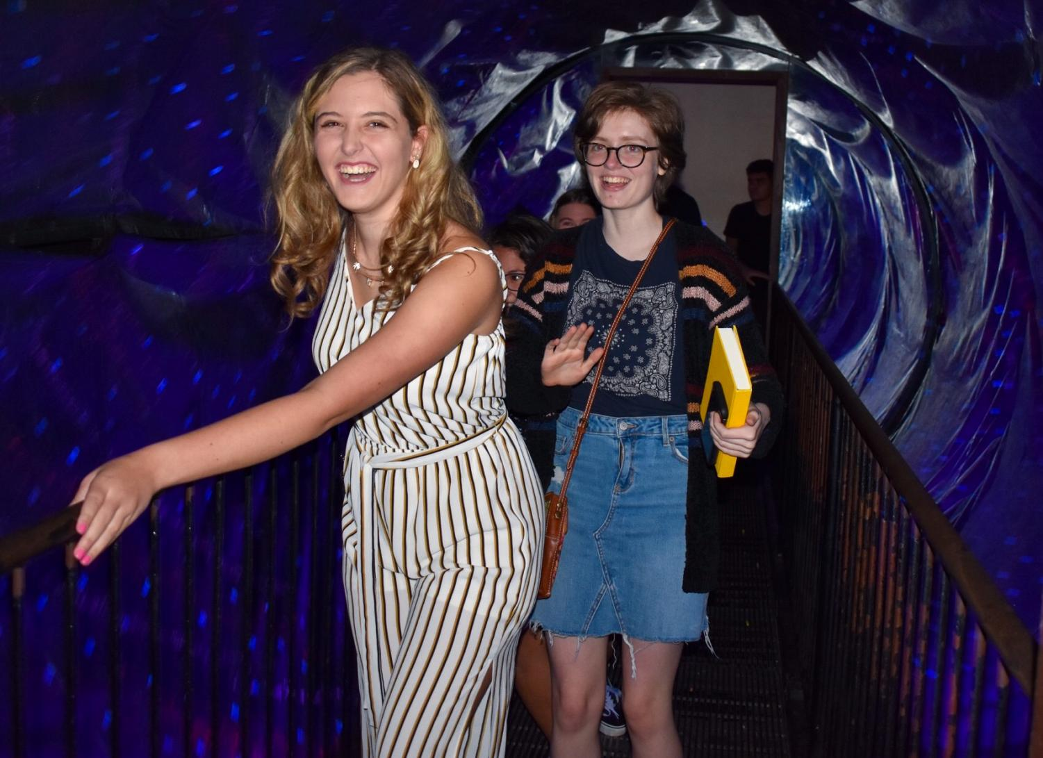Seniors Ainsley Vetter of Wall and Emily Madeira of Howell walk through a section of Ripley's Believe it or Not museum.