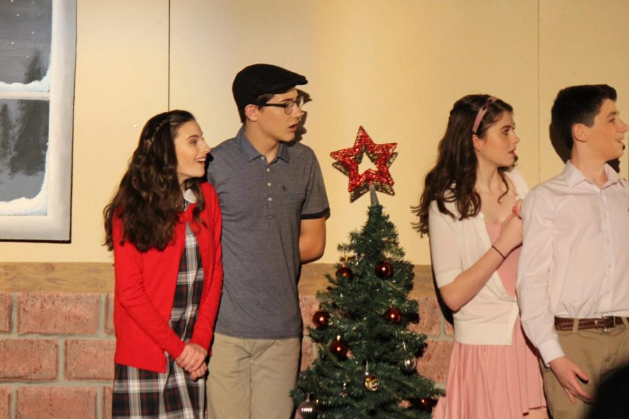 Students perform in Drama Clubs 2017 production of Its a Wonderful Life, which Bengle advised.