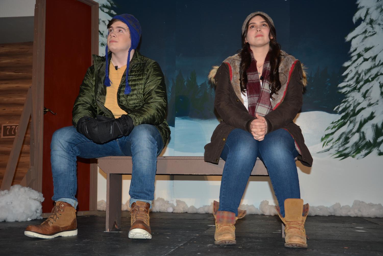 Freshman Robert Gill of Wall and senior Julia Rocco of Marlboro act in