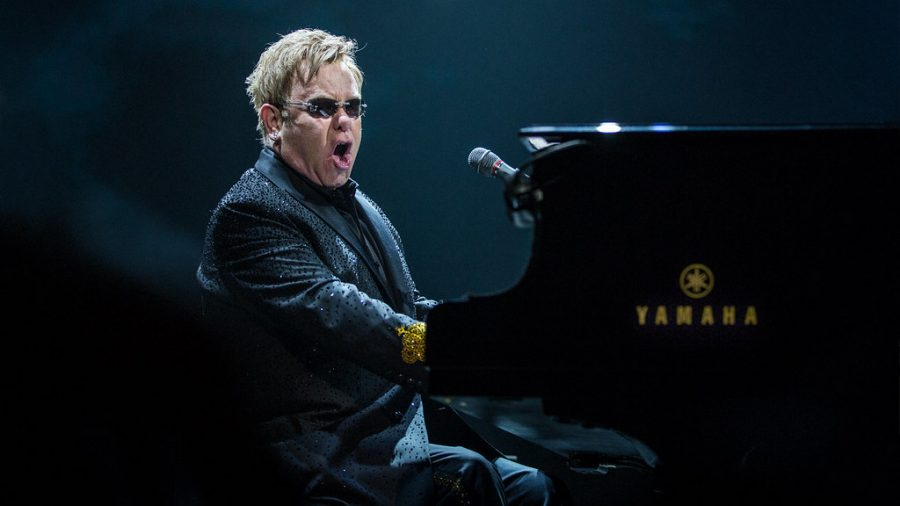 "Elton John performs at the Oslo Spektrum in 2014. His recently released movie, ""Rocketman,"" helped to boost his popularity."