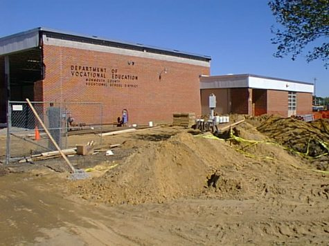 According to Pricipal James Gleason, this photo was taken in 1999 when the Wall High School vocational building was under construction. This photo, Gleason thinks, is room 105 in the early stages of its construction. Today, the building is home to the students, teachers and classes of Communications High School.