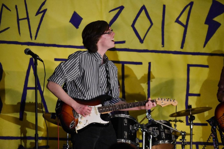 Senior Ryan Swanson of Manasquan performs at Battle of the Bands 2019. Due to the school closure and government restrictions, this event will not happen this year.