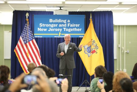 New Jersey Governor Phil Murphy at a town hall meeting. https://creativecommons.org/licenses/by/2.0/