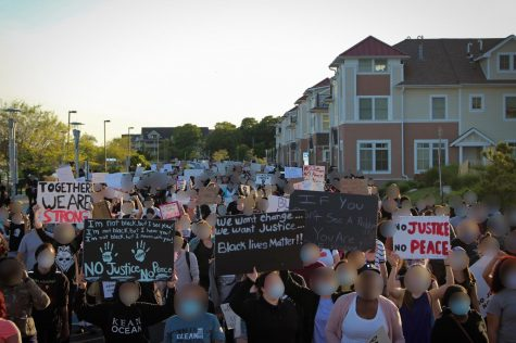 Protesters rally in Asbury Park for Black Lives Matter.