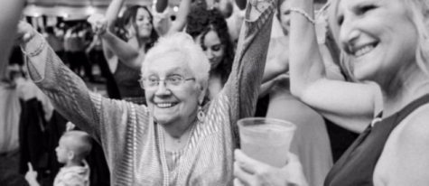 Skolnick's grandmother dances to Czech Polka songs at a recent wedding.