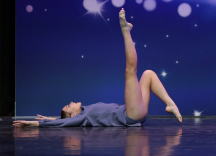 Sophomore Meghan Garrity dancing at the Headliners Dance competition in Lawrence Township, NJ in March of 2019.
