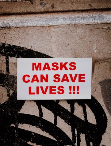 Due to COVID-19 concerns and precautions, students and staff are required to wear masks. Many have adapted to this