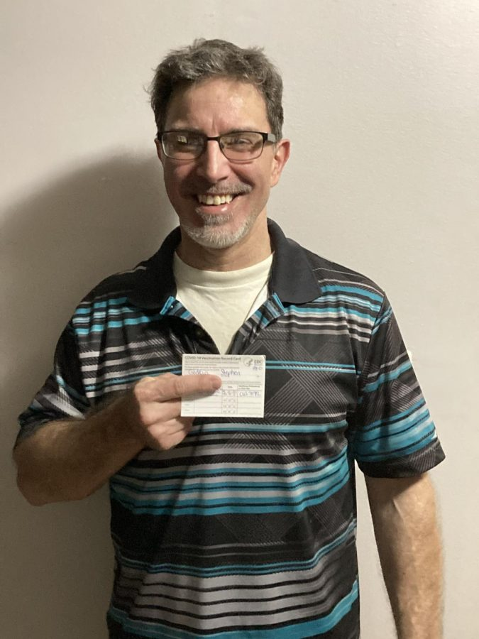 Physics instructor Steve Godkin is fully vaccinated, and spoke of his positive experience during and after his vaccination.