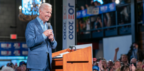 Joe Biden addresses supporters at an event in Des Moines, Iowa, on May 1, 2019, just days after announcing his candidacy for president. After spending 100 days in office, his record is being carefully scrutinized by Americans to see if he has accomplished what he said he would.